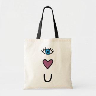 Olho, coração, você - eu te amo o bolsa