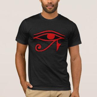 Olho da camisa preta vermelha de Horus
