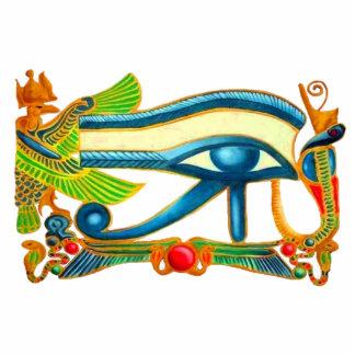 Olho de Horus, encanto de boa sorte egípcio Fotoesculturas