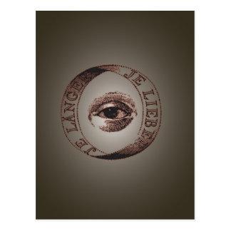 Olho de Illuminati Cartão Postal