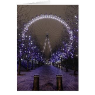 Olho de Londres pelo cartão da noite