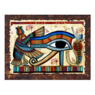OLHO do cartão egípcio antigo da arte de HORUS