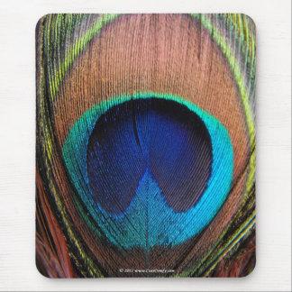 Olho do Fim-Acima da pena do pavão Mousepad