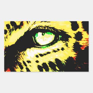 Olho do leopardo adesivo retangular