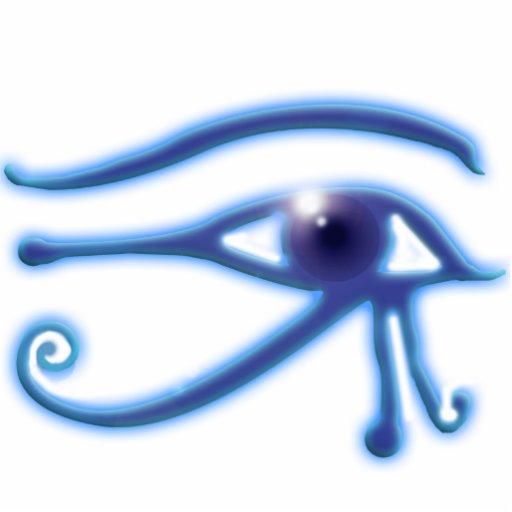 OLHO do presente Sculpted antigo de Egipto do RA d Escultura De Foto