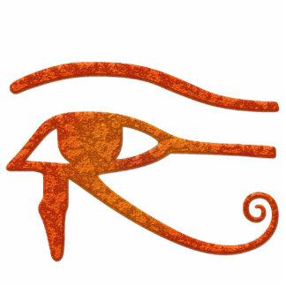 OLHO do presente Sculpted antigo de Egipto do RA d Foto Escultura