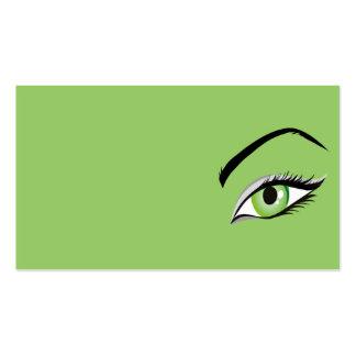 olho do SALÃO DE BELEZA da COMPOSIÇÃO da FORMA da Cartão De Visita