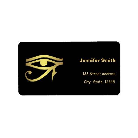 Olho do símbolo do egípcio do horus etiqueta de endereço