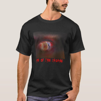 OLHO do t-shirt INSANO Camiseta