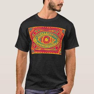 Olho dos ciganos do entusiasmo alaranjado t-shirts