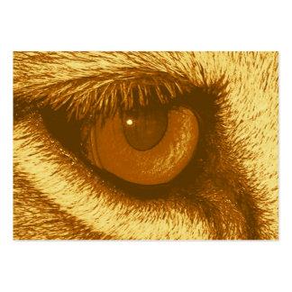 Olho dos leões, Brown e Pastel amarelo Cartão De Visita Grande