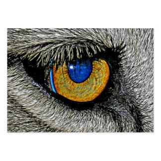 Olho dos leões, poster realístico cartão de visita grande