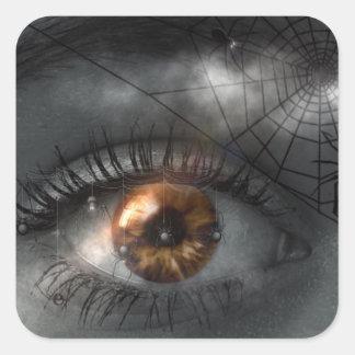 Olho e etiqueta Mystical de Spiderweb o Dia das