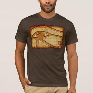 Olho egípcio da camisa antiga da arte do papiro de