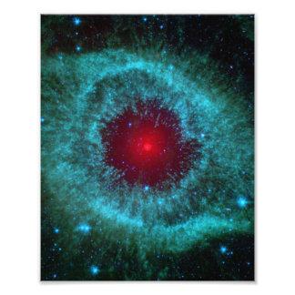 Olho empoeirado da nebulosa NGC 7293 da hélice Impressão De Foto