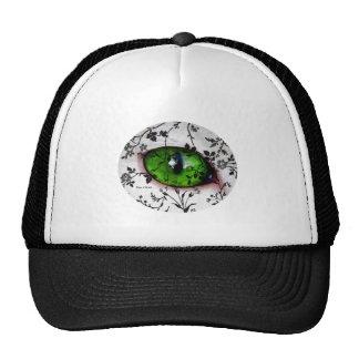 Olho feminino do vintage legal bonito do gato bones