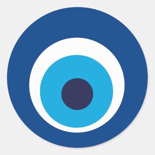 olho grego adesivo redondo