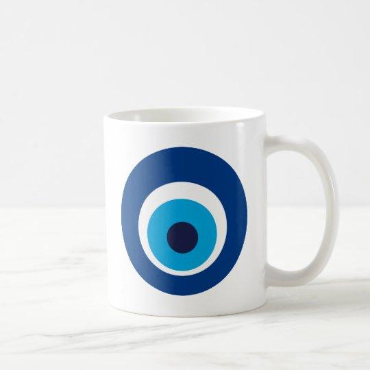 olho grego caneca de café