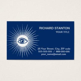 Olho maçónico cartão de visitas