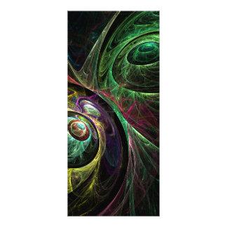 Olho para eye o cartão da cremalheira da arte 10.16 x 22.86cm panfleto