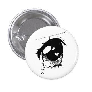 olho triste do anime: (mini botão bóton redondo 2.54cm