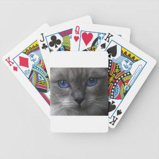 Olhos azuis baralho para poker