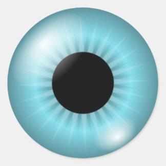 Olhos azuis de Frost Adesivo Redondo