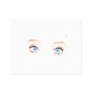 Olhos azuis impressão em tela
