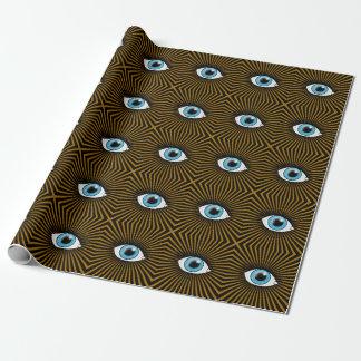 Olhos azuis solares papel de presente