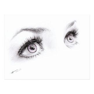 Olhos bonitos que tiram o cartão minimalista da