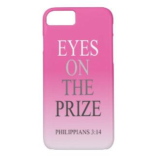 Olhos da capa de telefone do verso da bíblia no