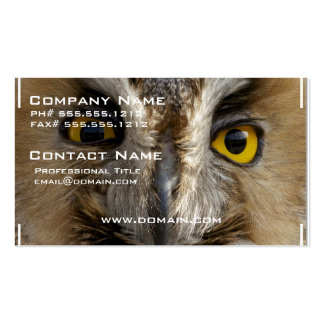 Olhos da coruja cartão de visita