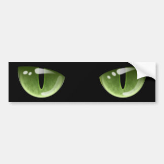 Olhos de gato verdes do Dia das Bruxas Adesivo Para Carro