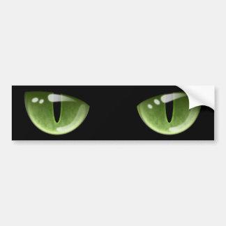 Olhos de gato verdes do Dia das Bruxas Adesivo