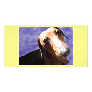 Olhos do amor cartão com fotos personalizado