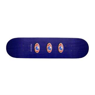 Olhos do azul ?ns shape de skate 18,7cm
