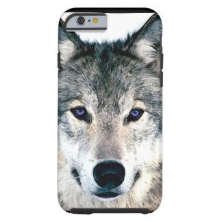 Olhos do lobo no animal selvagem da natureza das capa tough para iPhone 6
