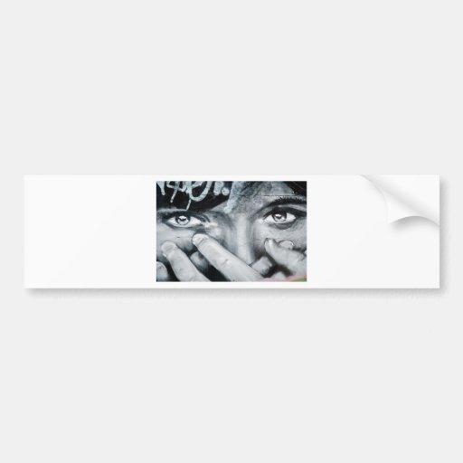 Olhos dos grafites adesivo