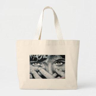 Olhos dos grafites bolsa para compras