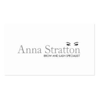 Olhos e salão de beleza e termas brancos simples cartão de visita