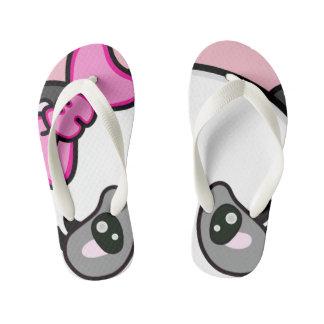 Olhos mindinhos dos chinelos da panda do Pinkie