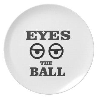 olhos na bola prato de festa