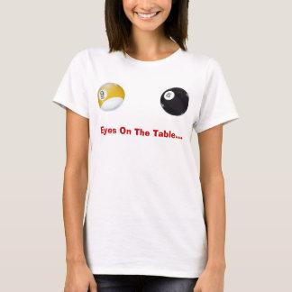 Olhos na mesa camiseta