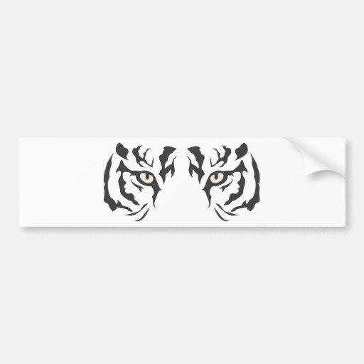Olhos selvagens do tigre adesivo