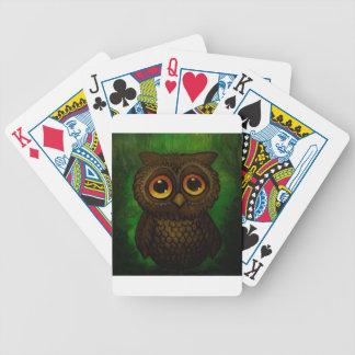 Olhos tristes da coruja jogo de baralho