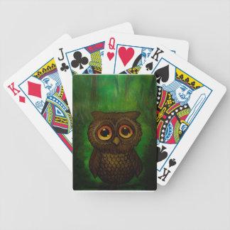 Olhos tristes da coruja jogos de baralhos