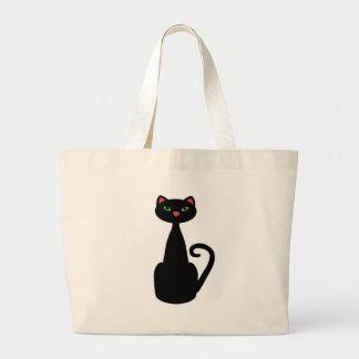 Olhos verdes de gato preto bolsa