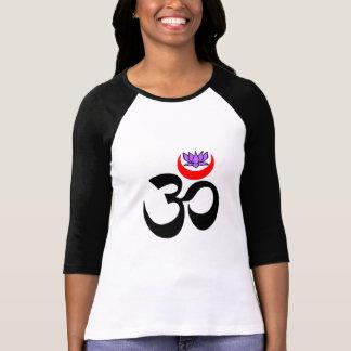 OM artístico - Camisas da ioga da Longo-Luva