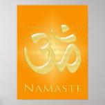 OM nas laranjas & no ouro - Namaste Posters