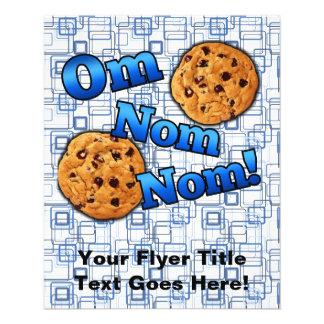 OM Nom Nom, biscoitos do amor de Meme Flyer 11.43 X 14.22cm